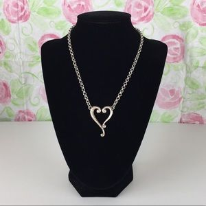 Brighton Retired Silver Tuscan Heart Necklace